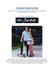 E Scooter Parts For Sale.pdf