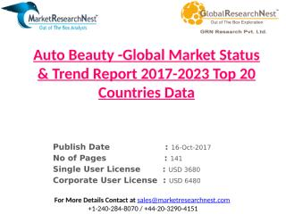 Auto Beauty -Global Market Status & Trend Report 2017-2023 Top 20 Countries Data.pptx