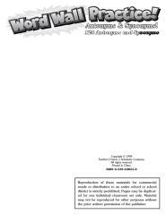 WordWallAntonymsSynonyms.pdf