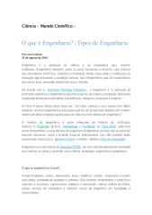O que é Engenharia, Tipos de Engenharia.pdf
