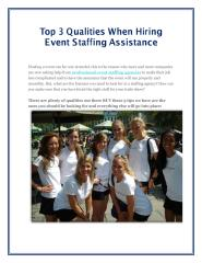Top 3 Qualities When Hiring Event Staffing Assistance.pdf