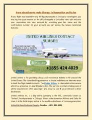 Contact us at +1855 424 4029 to make changes in united airlines reservation.pdf