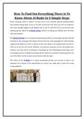 How To Find Out Everything There Is To Know About Al Badie In 5 Simple Steps.doc