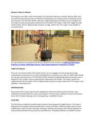 Business Trolley On Wheels.docx