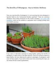 The Benefits of Wheatgrass.pdf